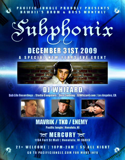 January 2010 Subphonix Flyer w/ DJ Whizard