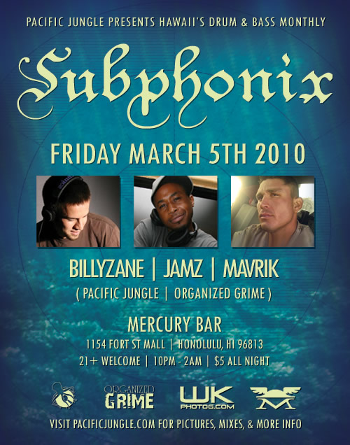 March 5th 2010 Subphonix Flyer