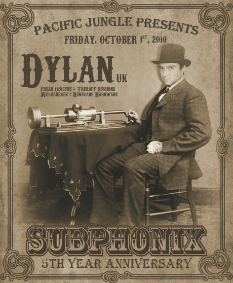 Subphonix 5 Year Anniversary Flyer w/ Dylan